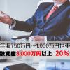 年収750万円~1,000万円の人は金融資産3,000万円以上が多いってマジですか。