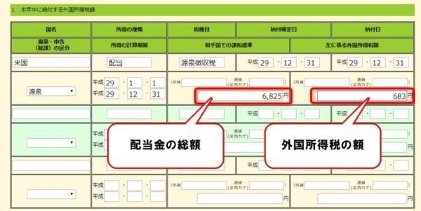 確定申告 総合課税 外国税額控除3