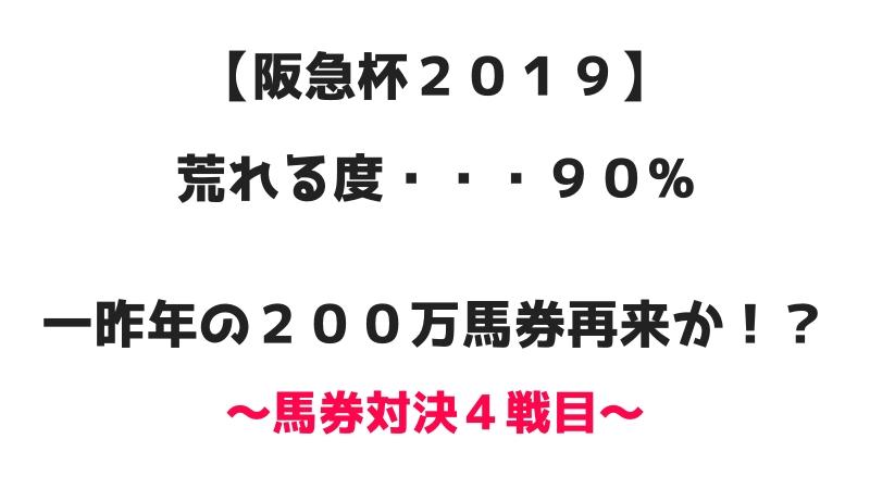 阪急杯2019 荒れる度90% 一昨年の200万馬券再来か? 馬券対決4戦目