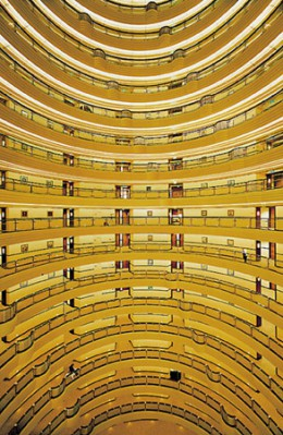 "Andreas Gursky. Shanghai. 2000. Chromogenic color print. 9' 11 5/16""x 6' 9 1/2"" (280 x 200 cm). Courtesy Matthew Marks Gallery, New York, and Monika Sprüth Galerie, Cologne © 2001 Andreas Gursky."