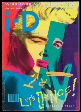 i-D, no 28. The Art Issue, August 1985. Styled by William Faulkner, design by Terry Jones, photograph by Nick Knight, featuring Lizzy Tear © V&A Museum.