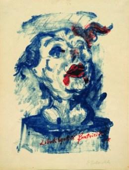 """오스카 코코슈카 (OSKAR KOKOSCHKA, 1886–1980) 『원칙 """"자유, 평등, 형제살 (Das Prinzip (»Liberté, Egalité, Fratricide«), 1918년, 41,2 × 31,2 cm / Color lithograph on paper Leopold Museum, Wien © Fondation Oskar Kokoschka/Bildrecht, Wien 2014"""