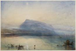 윌리엄 터너 (Joseph Mallord William Turner), 『푸른 리지에서의 일몰 (The Blue Rigi, Sunrise)』1842, Watercolour on paper, 297 x 450 mm. Tate collection.