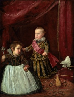 Diego Velázquez 『Infante Baltasar Carlos with a Dwarf』 1631–1632, Oil on canvas, 128 x 101,9 cm © Boston, Museum of Fine Arts