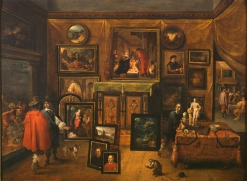 Frans Francken and David Teniers, The Interior of a Picture Gallery, c. 1615-50 Oil on panel Courtauld Institute, London