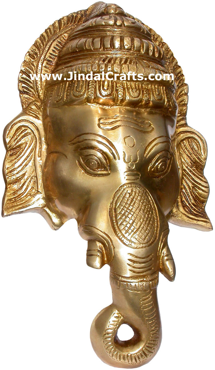 Hindu Deities Brass Lord Ganesha India Carving Arts