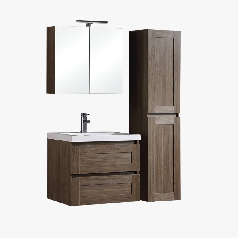 Aqualuna, ensemble de salle de bain 80 cm