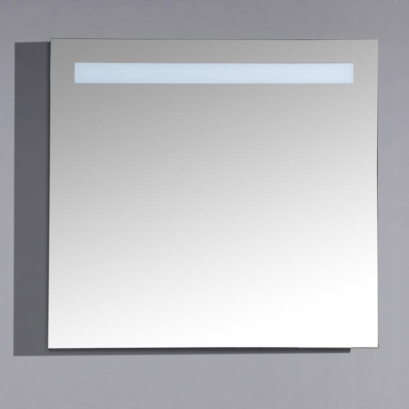 Miroir Lumineux 80 Cm Pour Salle De Bain Avec Bandeau Led Haut