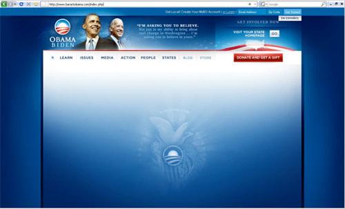 WWW stránky prezidenta Obamy