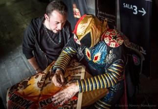 Convivencia del público con el Capitán Aventura el 28 de agosto en la Cineteca Nacional. Foto: Sandra Monroy Mandujano.