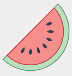 drawings kawaii easy watermelon icon clipart circle cartoons office half jing fm icons8 inside cliparts svg px material