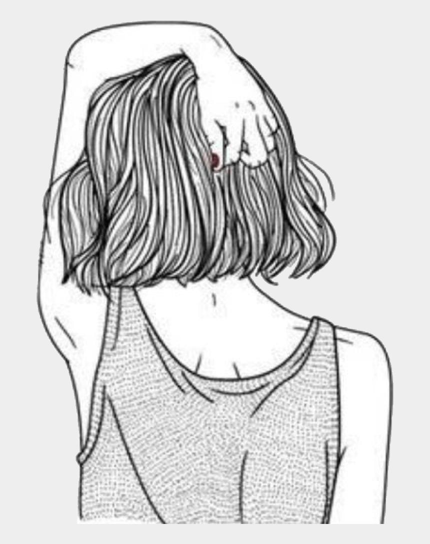 Girl With Short Hair Drawing : short, drawing, Short, Drawing,, Cliparts, Cartoons, Jing.fm