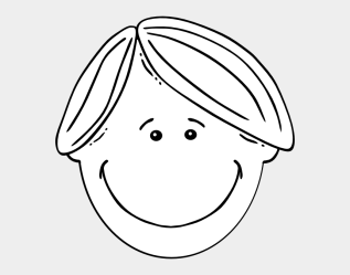 Girls Face Clipart Black And White Cartoon Character Boy With Blond Hair Cliparts & Cartoons Jing fm