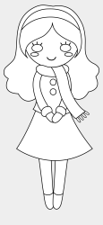 Girl Clipart Outline Cute Girl Clip Art Black And White Cliparts & Cartoons Jing fm