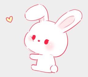 aesthetic bunny pastel pink soft rabbit kawaii cuteness nurse animals cartoons jing fm medicine pretty clip