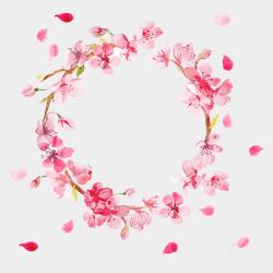 pink wreath border flowers clipart flower watercolor jing fm pixels