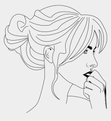 Black And White Cartoon Face Clip Art Black And White Cartoon Woman Face Cliparts & Cartoons Jing fm