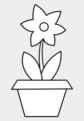 Flower Pot Coloring Page Free Clip Art 229422 Flower Spring Dresden Flower Quilt Cliparts & Cartoons Jing fm