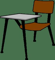 Student Desk Cartoon Png