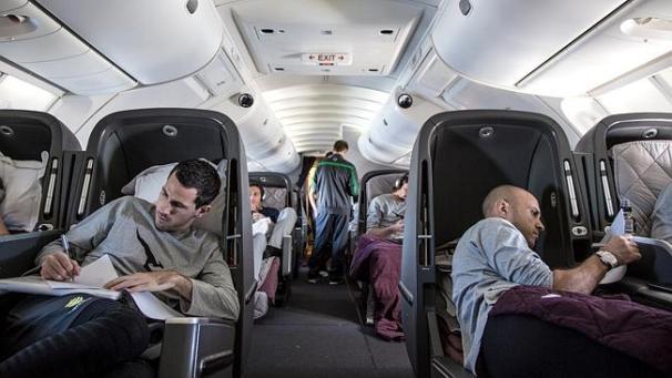 บรรยากาศบนเครื่องบินตามอัธยาศัย
