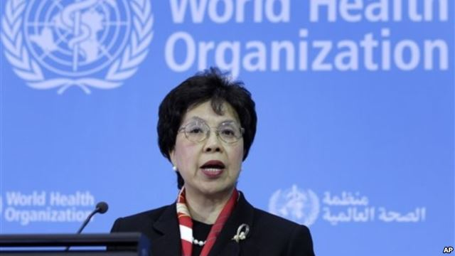 นาง Margaret Chan ผู้อำนวยการองค์การอนามัยโลก