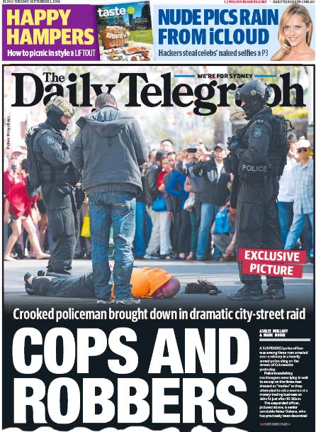 นสพ. the Telegraph ฉบับ 2 ส.ค. 2014 เสนอข่าวการปล้นในย่านแคบรามัตตา ถิ่นคนเอเชียพูดแต้จิ๋ว รวมถึงคนไทย, ลาว และเขมร