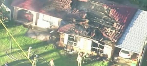 ภาพเพลิงไหม้จากทางอากาศ (ภาพถ่ายจากทีวี 9)