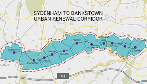 แผนการสร้างอาคารสูงสำหรับที่อยู่อาศัยตามแนวสถานีรถไฟ Sydenham ไปถึงสถานีรถไฟ Bankstown ที่ถูกมองว่าเป็นแผนกระตุ้นเศรษฐกิจระยะสั้น แต่จะก่อปัญหาทางเศรษฐกิจและสังคมในระยะยาว