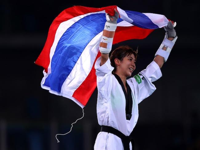 during Day 12 of the Rio น.ส. Panipak Wongpattanakit : ภาพจาก Fox Sport