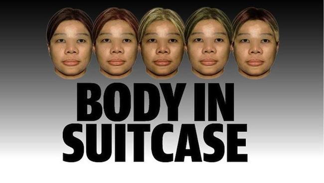 ใบหน้าของหญิงสาวเอเชียที่ถูกฆ่ายัดใส่กระเป๋าในเฉดผมสีต่าง ๆ : ภาพจากนสพ. the West Australian