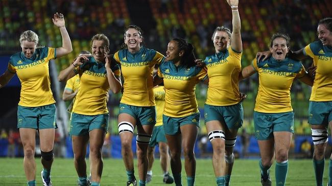 ทีมรักบี้เซเว่นออสเตรเลีย : ภาพจากนสพ. Mashable Australia