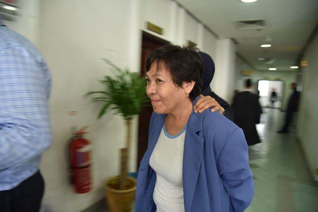 นาง Maria Elvira Pinto Exposto ขณะถูกนำตัวมาศาล : ภาพจากสำนักข่าว AAP