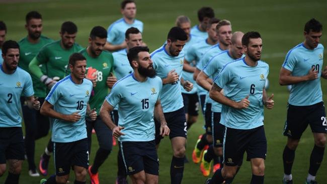 ภาพทีมฟุตบอลทีมชาติออสเตรเลีย หรือ socceroos ในระหว่างฝึกซ้อมเพื่อเปิดศึกกับทีมชาติไทย : ภาพจาก footballaustralia.com.au