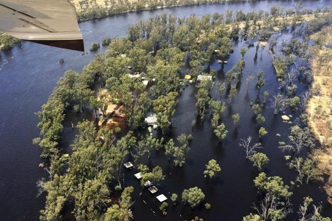 น้ำท่วมในรัฐวิกตอเรียปีนี้เสียหายหนัก : ภาพจากสำนักข่าว ABC
