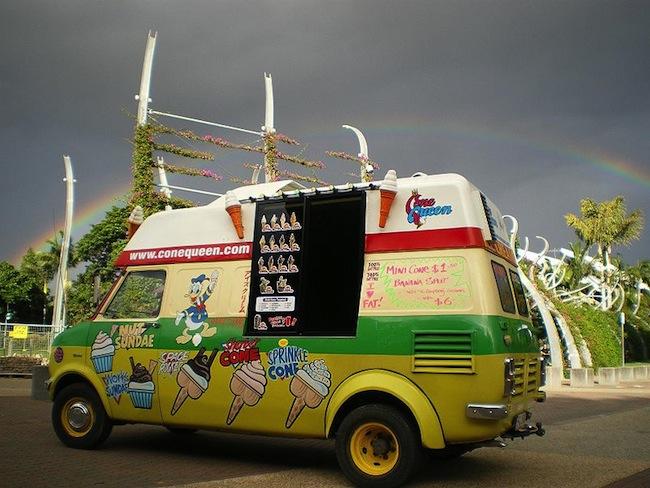 รถขายไอติมของ Cone Queen Truck ในบริสเบน