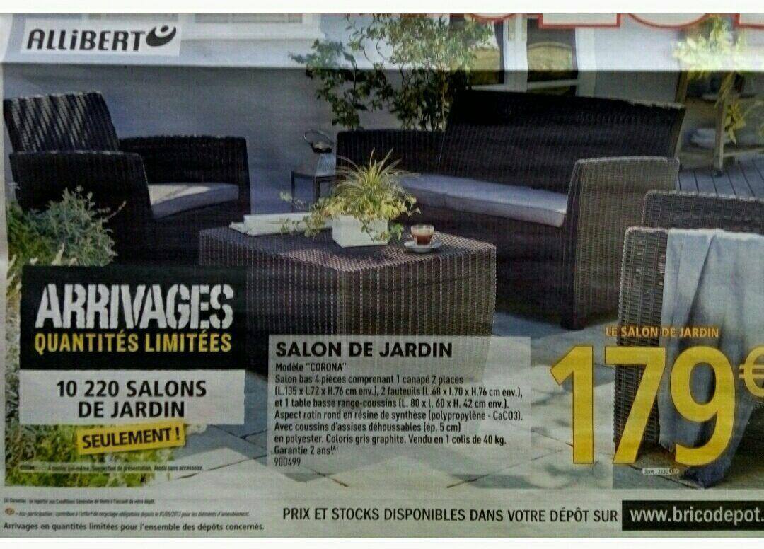 Salon De Jardin Bas Corona | Table Jardin Allibert Charmant Salon De ...