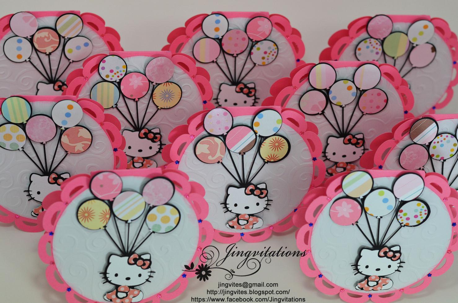hello kitty birthday party invitations