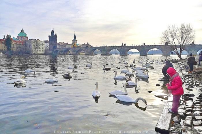 捷克自助、布拉格景點 查理大橋.布拉格最古老石橋、不朽聖人橋,從伏爾塔瓦河兩岸拍下記憶最美查理大橋與布拉格印象
