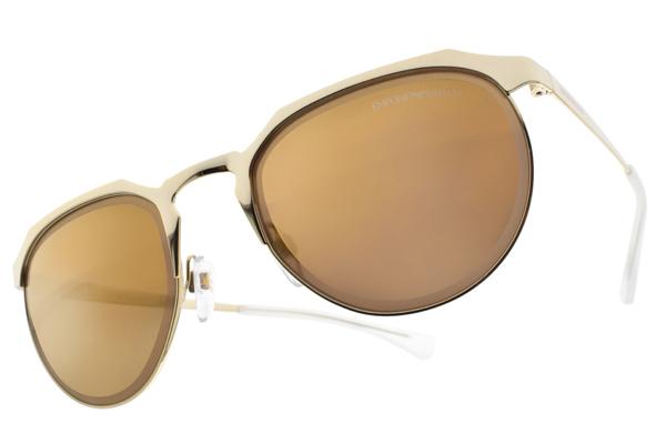 EMPORIO ARMANI 水銀太陽眼鏡 EA2067 3013-7D (金-淡黃鏡片) 潮流眉框款 水銀墨鏡 # 眼鏡品牌 - 金橘眼鏡