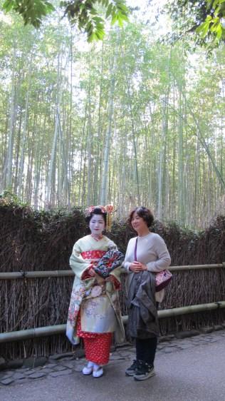 Met a Geisha along the forest