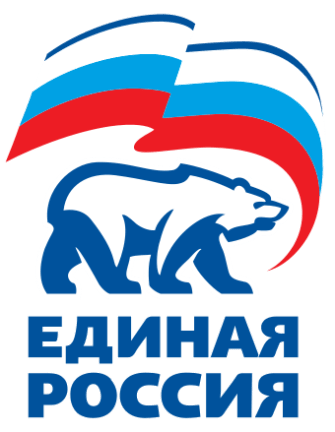 The 'United Russia' political party logo.