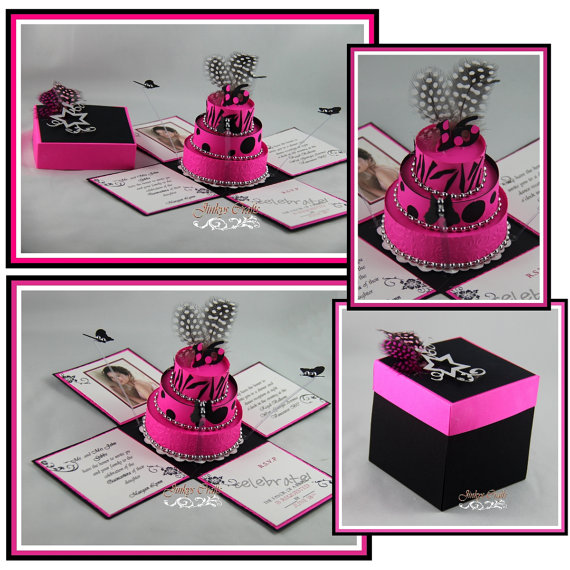 18th Birthday Exploding Box Invitation Kit Jinkys Crafts