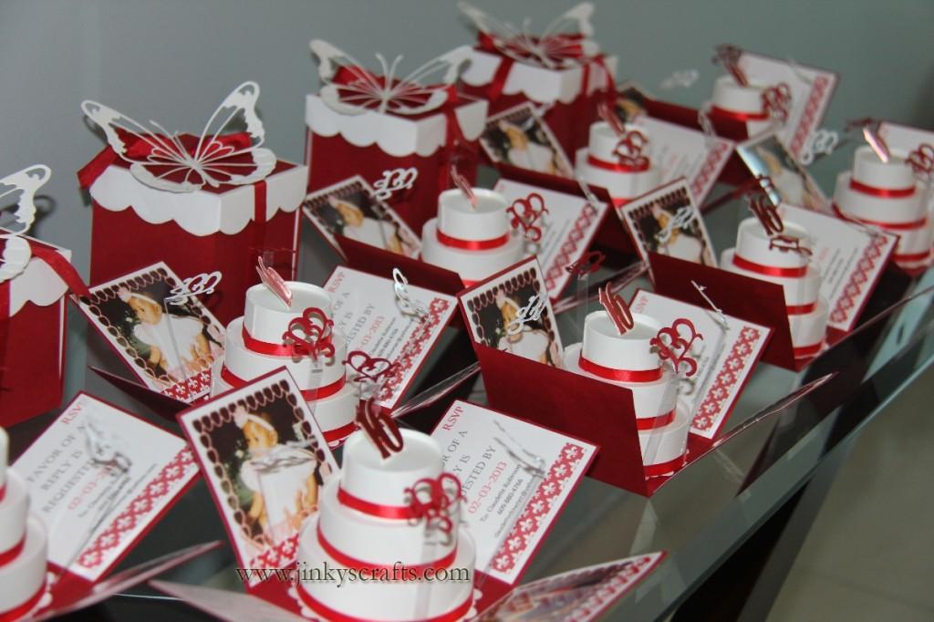Valentines Day Sweet 16 Exploding Box Invitations