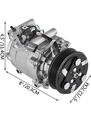 2002 Honda Civic Ac Compressor : honda, civic, compressor, Compressor, Acura, Honda, Civic, Prelude, 38810P5M006,78599