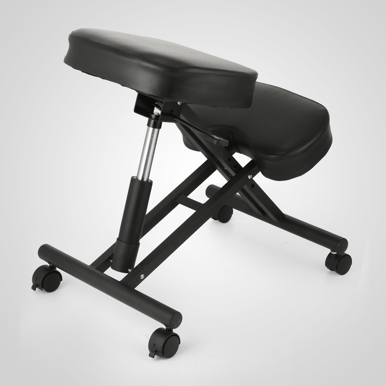 Ergonomic Chair Kneeling Ergonomic Kneeling Chair Bentwood Steel Frame Stress