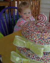 joie and her birthday cake may 26 2013