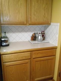 dark kitchen corner