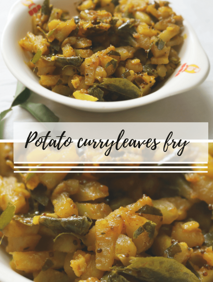 Potato curry leaves fry
