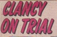 """""""Clancy on Trial"""" logo."""