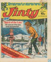 "The cover image for the first episode of ice-skating story ""Spirit of the Lake"""
